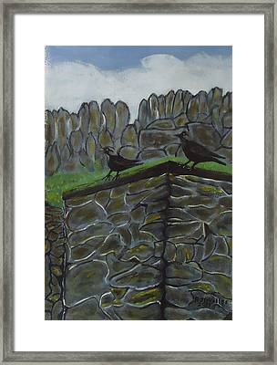 Inis Meain 2 Jackdaw Framed Print by Roland LaVallee