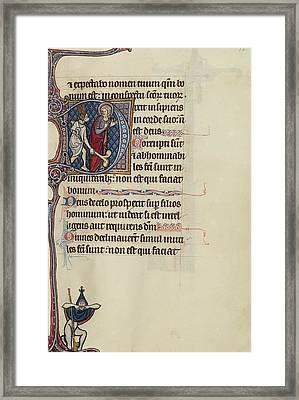 Initial D The Fool, With A Dog Face And Wearing Winged Framed Print