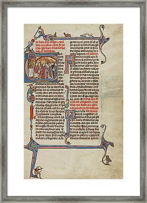 Initial E A Priest Celebrating Mass Unknown, Michael Lupi Framed Print by Litz Collection
