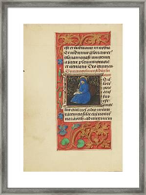 Initial I Saint Luke Master Of The Dresden Prayer Book Or Framed Print