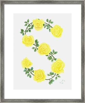 Initial S Framed Print by Dusty Reed