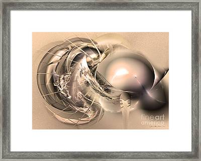 Initium - Abstract Art Framed Print by Sipo Liimatainen