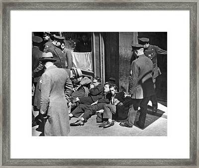 Injured Garment Workers Framed Print by Underwood Archives