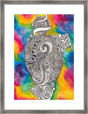Ink And Watercolor Framed Print by Kayla Soufer