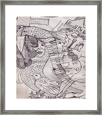 Ink Art To Color 3 Framed Print by Lois Picasso