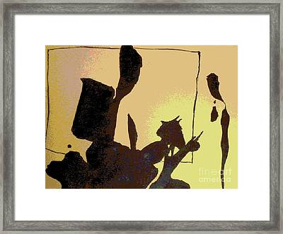Ink Blot Framed Print by Helen Babis