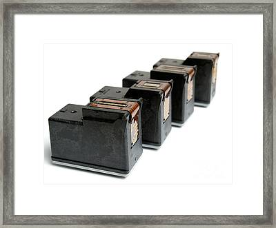 Ink Cartridges Framed Print by Sinisa Botas