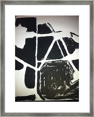 Ink Drawing Framed Print by Khoa Luu