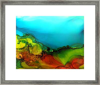 Ink Landscape # 131 Framed Print