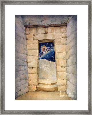 Inkan Portal  Framed Print by Kym Stine