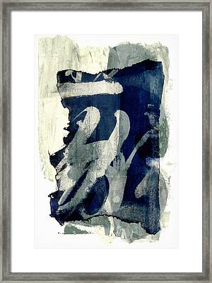 Inked Painted And Torn Framed Print by Carol Leigh