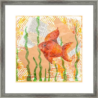 Inky Fish Framed Print