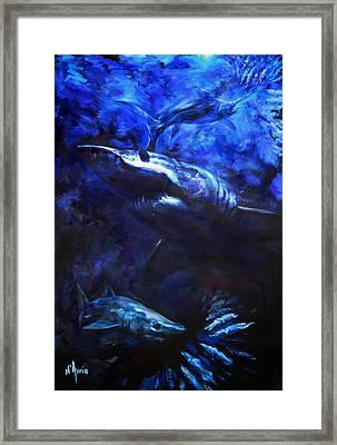 Inky Waters Framed Print