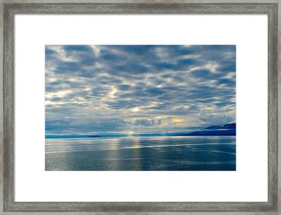 Inland Passage In Alaska Framed Print by Donald Fink