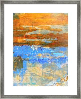 Inland Sea Framed Print by Nancy Kane Chapman