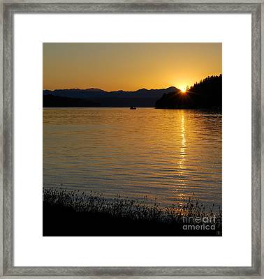 Framed Print featuring the photograph Fishing Boat At Twilight by Susan Parish