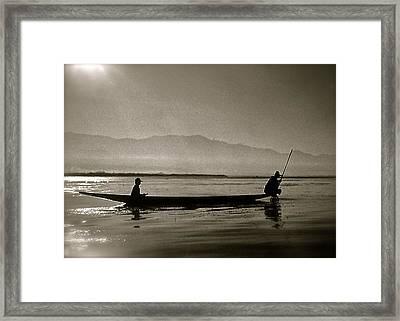 Inle Fishermen Framed Print