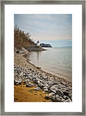 Inlet Lighthouse 3 Framed Print