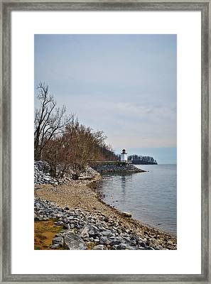 Inlet Lighthouse Framed Print