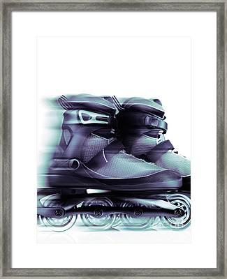 Inline Skates Rollerblades Artistic Dynamic Still Ife Framed Print by Oleksiy Maksymenko