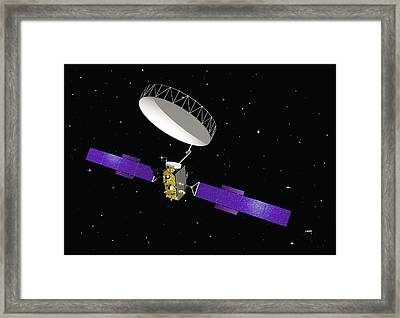 Inmarsat Communication Satellite Framed Print by Esa - J. Huart