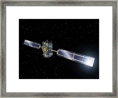 Inmarsat Communication Satellite Framed Print by Esa-p.carril