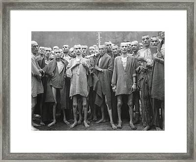 Inmates Of Ebensee Concentration Camp Framed Print