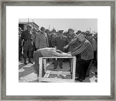 Inmates Of Ohrdruf Concentration Camp Framed Print