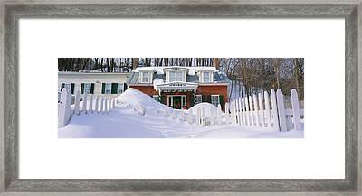 Inn At Wintertime, Vermont Framed Print