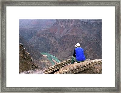 Inner Canyon And River Framed Print by Jim West