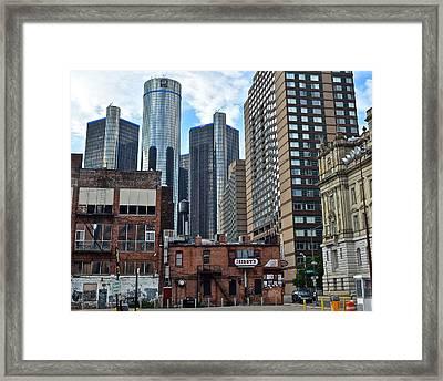 Inner City Detroit Framed Print by Frozen in Time Fine Art Photography