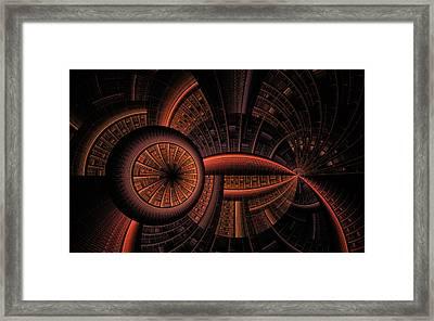 Framed Print featuring the digital art Inner Core by GJ Blackman