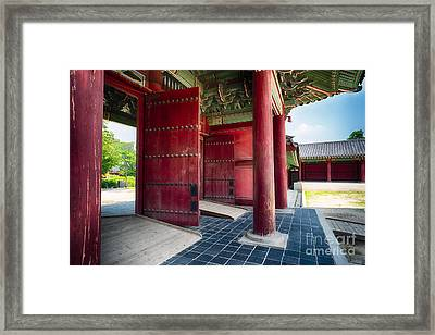 Inner Gates  Framed Print by George Oze