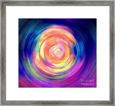 Framed Print featuring the digital art Inner Glow Abstract Art by Annie Zeno