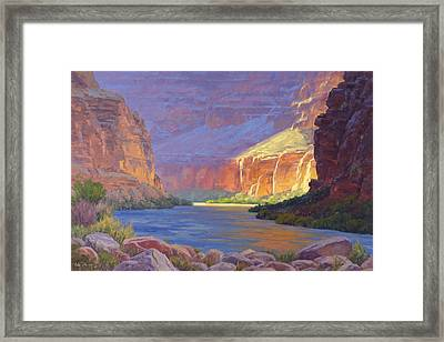 Inner Glow Of The Canyon Framed Print