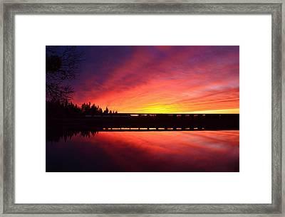 Inner Glow Sunset Framed Print