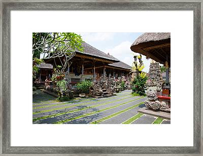 Inner Grounds Of The 1950s Pura Taman Framed Print by Panoramic Images