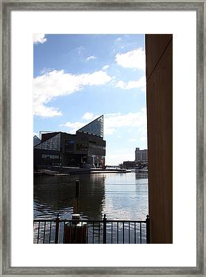 Inner Harbor At Baltimore Md - 12125 Framed Print by DC Photographer