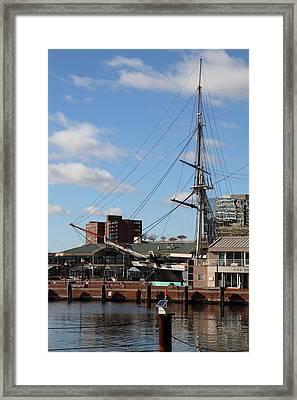 Inner Harbor At Baltimore Md - 12128 Framed Print by DC Photographer