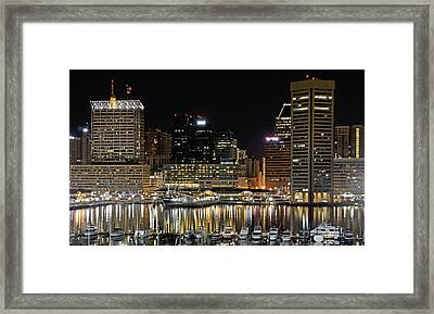 Inner Harbor - Baltimore Maryland Framed Print by Brendan Reals