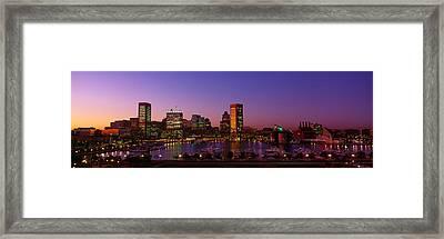 Inner Harbor, Baltimore, Sunset Framed Print by Panoramic Images