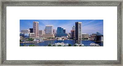 Inner Harbor Federal Hill Skyline Framed Print by Panoramic Images