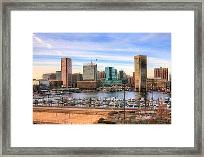 Inner Harbor Framed Print by JC Findley