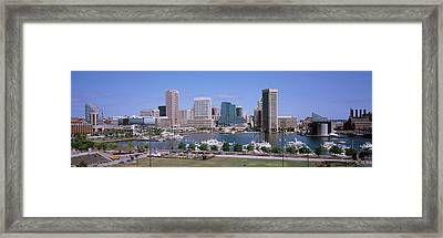 Inner Harbor Skyline Baltimore Md Usa Framed Print