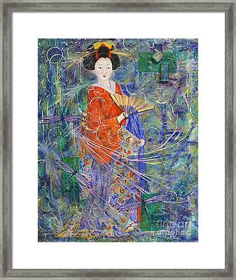 Framed Print featuring the painting Inner Peace by Jane Chesnut