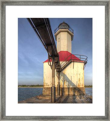 Inner Range Light At Saint Joseph Framed Print by Twenty Two North Photography