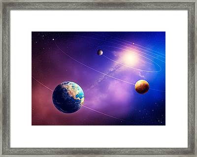 Inner Solar System Planets Framed Print by Johan Swanepoel
