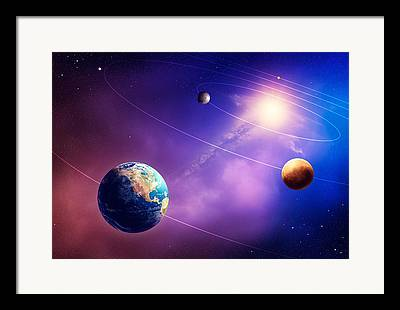 Orbiting Framed Prints