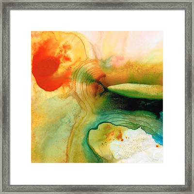 Inner Strength - Abstract Painting By Sharon Cummings Framed Print by Sharon Cummings