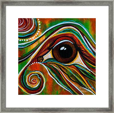 Inner Strength Spirit Eye Framed Print by Deborha Kerr